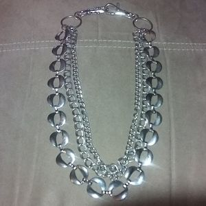 Three Strand Silver Necklace